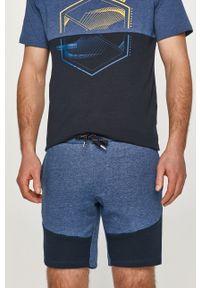 PRODUKT by Jack & Jones - Produkt by Jack & Jones - Szorty. Okazja: na co dzień. Kolor: niebieski. Materiał: tkanina. Wzór: gładki. Styl: casual