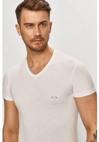 Armani Exchange - T-shirt (2-pack). Okazja: na co dzień. Kolor: czarny. Materiał: dzianina. Wzór: gładki. Styl: casual