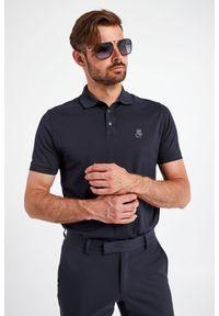 Karl Lagerfeld - POLO KARL LAGERFELD. Typ kołnierza: polo. Materiał: guma. Długość rękawa: krótki rękaw. Długość: krótkie. Wzór: aplikacja. Styl: klasyczny