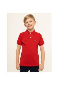 Czerwony t-shirt polo Lacoste polo