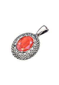Polcarat Design - Srebrny wisiorek z kryształem Swarovski W 2093. Materiał: srebrne. Kolor: srebrny. Wzór: aplikacja. Kamień szlachetny: kryształ
