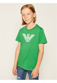 Emporio Armani T-Shirt 8N4T99 1JNQZ 0581 Zielony Regular Fit. Kolor: zielony