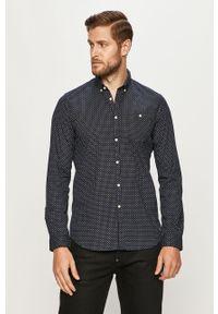 Niebieska koszula Tom Tailor Denim button down, długa, casualowa, na co dzień