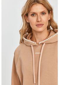 Beżowa bluza Pinko klasyczna, z kapturem