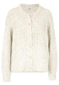 Biały sweter bonprix melanż