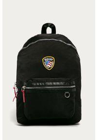 Czarny plecak Blauer z aplikacjami