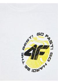 Biały t-shirt 4f