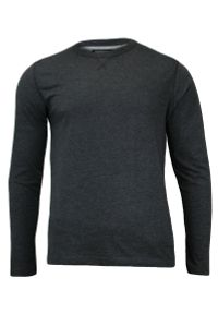 Ciemnoszary T-shirt (Koszulka) z Długim Rękawem, Longsleeve - Brave Soul, Męski. Okazja: na co dzień. Kolor: szary. Materiał: bawełna, poliester. Długość rękawa: długi rękaw. Długość: długie. Styl: casual