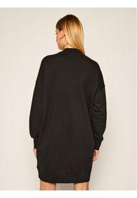 Czarna sukienka dzianinowa MSGM