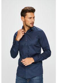 Niebieska koszula Only & Sons z włoskim kołnierzykiem, na co dzień, casualowa