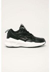 Czarne buty sportowe Reebok Classic na sznurówki, z cholewką