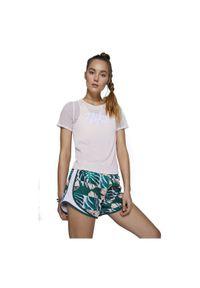 Koszulka damska do biegania Nike CJ2185. Materiał: tkanina, materiał, poliester. Długość rękawa: krótki rękaw. Technologia: Dri-Fit (Nike). Długość: krótkie