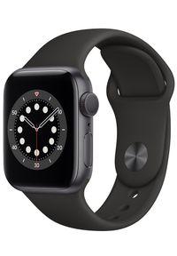 APPLE - Apple Zegarek Watch Series 6, 40mm Space Gray Aluminium Case with Black Sport Band (MG133HC/A). Kolor: szary. Styl: sportowy
