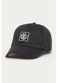 Szara czapka z daszkiem Element z aplikacjami