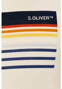 Beżowa bluza nierozpinana s.Oliver casualowa, z nadrukiem, z kapturem, na co dzień #5