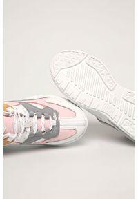 Różowe buty sportowe D.A.T.E. na średnim obcasie, na obcasie, z cholewką