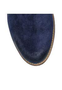 Niebieskie botki kowbojki Arturo Vicci wizytowe, z aplikacjami #8