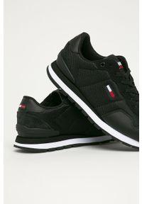 Czarne sneakersy Tommy Jeans na sznurówki, z cholewką