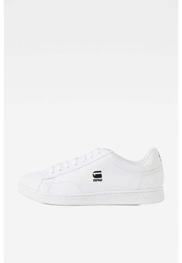 Białe sneakersy G-Star RAW z okrągłym noskiem, na sznurówki