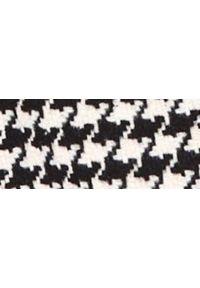TOP SECRET - Dwurzędowy płaszcz w pepitkę. Kolor: biały. Materiał: tkanina. Długość: krótkie. Sezon: jesień. Styl: sportowy, klasyczny, elegancki