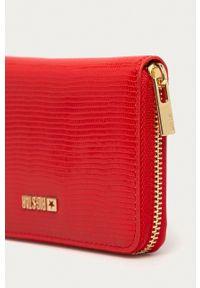Big Star Accessories - Portfel. Kolor: czerwony. Materiał: materiał. Wzór: gładki