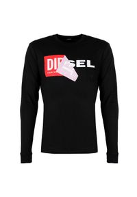 Koszulka z długim rękawem Diesel na co dzień, casualowa