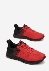 Born2be - Czerwono-Czarne Buty Sportowe Zeuxusi. Kolor: czerwony