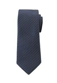 Niebieski krawat Angelo di Monti w prążki, elegancki