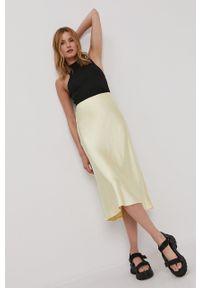 Y.A.S - Spódnica. Kolor: żółty. Materiał: tkanina. Wzór: gładki