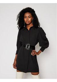 Czarna sukienka koszulowa