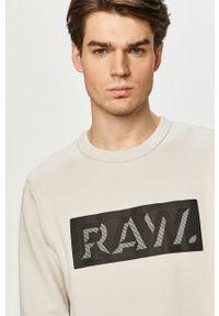G-Star RAW - G-Star Raw - Bluza. Okazja: na co dzień. Kolor: szary. Wzór: nadruk. Styl: casual