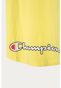 Żółta sukienka Champion casualowa, na ramiączkach, na co dzień, prosta