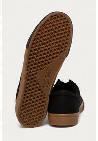 medicine - Medicine - Trampki Casual Elegance. Okazja: na co dzień. Nosek buta: okrągły. Zapięcie: sznurówki. Kolor: czarny. Materiał: guma. Styl: casual