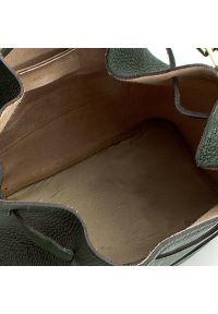 Creole - Torebka CREOLE - K10284 Zielony Ciemny. Kolor: zielony. Materiał: skórzane. Styl: klasyczny