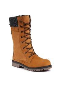 Kamik - Śniegowce KAMIK - Takoda2 WK4035 Tan. Kolor: brązowy. Materiał: zamsz, nubuk, skóra. Szerokość cholewki: normalna