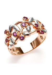 Braccatta - JOY; Srebrny pierścionek z ametystami. Materiał: srebrne. Kolor: srebrny. Kamień szlachetny: ametyst