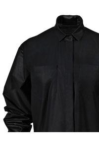 ANIA KUCZYŃSKA - Koszula z woskowanej bawełny Irene. Typ kołnierza: kołnierzyk klasyczny. Kolor: czarny. Materiał: bawełna. Styl: klasyczny, sportowy
