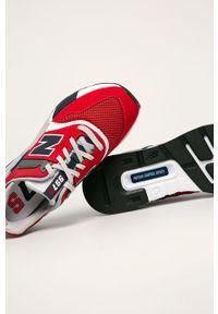 Czerwone sneakersy New Balance z cholewką, z okrągłym noskiem, na sznurówki #5