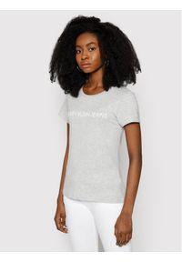 Calvin Klein Jeans T-Shirt Institutional J20J207879 Szary Regular Fit. Kolor: szary