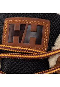 Brązowe buty trekkingowe Helly Hansen z cholewką, trekkingowe