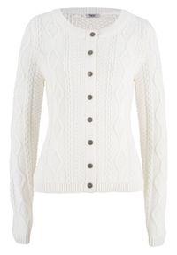 Biały sweter bonprix