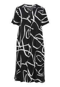 Cellbes Sukienka we wzory Czarny we wzory female czarny/ze wzorem 34/36. Typ kołnierza: dekolt w serek, kołnierzyk stójkowy. Kolor: czarny. Materiał: tkanina, materiał. Styl: elegancki