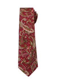 Oryginalny Krawat Męski- 6 cm - Alties, Wzór Paisley. Kolor: wielokolorowy, czerwony. Materiał: tkanina. Wzór: paisley. Styl: klasyczny, wizytowy, elegancki