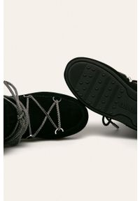 Czarne śniegowce Moon Boot na sznurówki, z cholewką #4