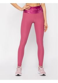 Różowe legginsy sportowe Guess