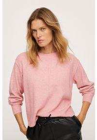 mango - Mango - Sweter Canada. Okazja: na co dzień. Kolor: różowy. Długość rękawa: długi rękaw. Długość: długie. Styl: casual