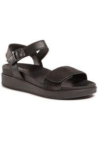 Czarne sandały Imac