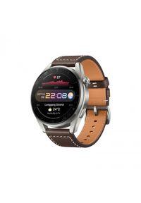HUAWEI - Smartwatch Huawei Watch 3 Pro LTE. Rodzaj zegarka: smartwatch. Materiał: satyna, skóra, materiał. Styl: sportowy