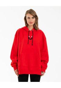 DSG - Czerwona bluza Vertigo. Kolor: czerwony. Materiał: bawełna. Długość rękawa: długi rękaw. Długość: długie. Styl: sportowy
