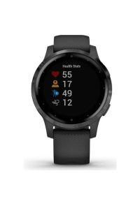 Czarny zegarek GARMIN smartwatch, sportowy
